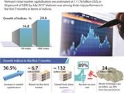 Vietnam's stock market in first 7 months of 2017