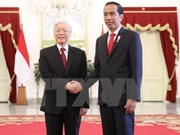 Party leader Nguyen Phu Trong on official visit to Indonesia