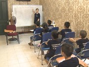 Foreign volunteers help kids pursuit education