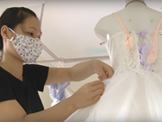 Wedding gowns bring extra to coastal community