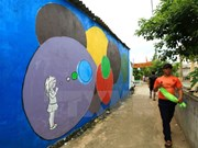Mural artworks on An Binh island