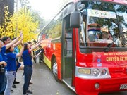 Buses bring Tet closers to disadvantaged students