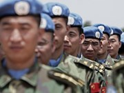 Special class of Vietnamese UN Peacekeeper in Central Africa