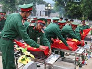 Dien Bien holds burial service for remains of fallen soldiers in Laos