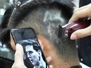 Football fans tribute idols with special haircuts