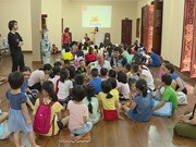 Free English class at pagoda in Hanoi