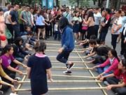Loose-parts playground for children in Hanoi's walking zone