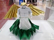 Origami art pieces showcased in Hanoi
