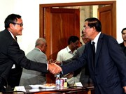 Leaders of Cambodia's two major parties retain culture of dialogue