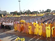An Giang leaders congratulate Hoa Hao Buddhism founder's birthday