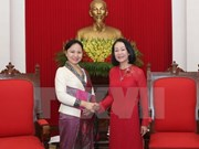Vietnamese official greets Lao guest