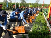 Dien Bien re-inters 27 sets of soldiers' remains