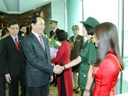 President arrives in Singapore to start State visit