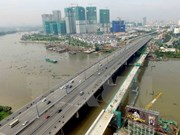HCM City's metro route No. 1 bridge sections joined