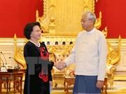 NA Chairwoman meets with Myanmar's President