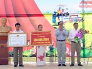 Nghe An has 12 more communes meeting new rural criteria