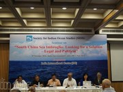 India workshop seeks legal solution to East Sea imbroglio