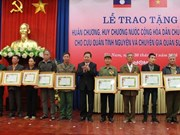 Ha Nam volunteer soldiers honoured with Lao orders, medals