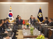 Top court official discusses boosting ties with RoK counterpart