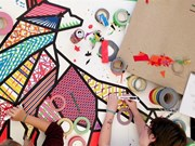 Adhesive tape artists on tour in Vietnam