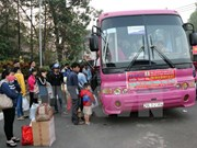 HCM City: Workers, students receive free bus tickets for Tet