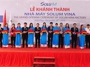 RoK's Solum Vina Company inaugurates factory in Vinh Phuc