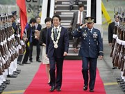 Japanese Prime Minister Shinzo Abe visits Philippines