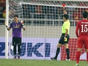 AFC fines Vietnam's goalkeeper after red card