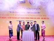 Vietnamese bank marks one-year anniversary in Laos