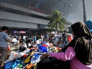 Indonesia: Fire rages traditional market in Jakarta