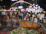 Nguyen Hue flower street opens in HCM City