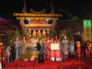 Tran Thuong Temple festival named national intangible heritage