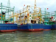 Binh Dinh hands over eight fishing ships to seamen