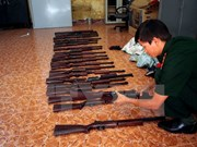 Trafficked guns detected at Noi Bai airport