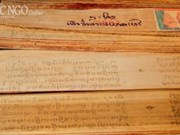 """Khmer writing on """"buong"""" leaf gets national intangible heritage status"""