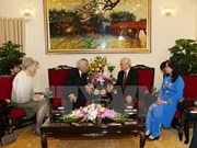 Party leader receives Japanese Emperor Akihito