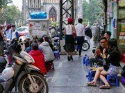 Hanoi to clear sidewalks of cars, beer joints