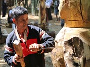 Competition features Central Highlands wooden folk sculptures