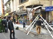 Hanoi, Da Nang start operation clear pavements