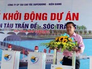 Work starts on wharf connecting with Con Dao