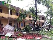 Quang Tri: unexpected tornado sweeps Dong Ha city