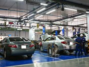 Toyota provides training facilities with technical equipment