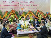 Lao students in Thai Nguyen celebrate traditional festival