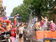 Traditional New Year celebration in full swing in Laos, Cambodia