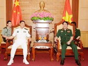 Army top official receives Chinese naval commissar