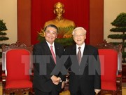 Party chief welcomes top Japanese legislator