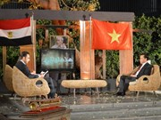 President Ho highlighted in live broadcast on Egyptian channel