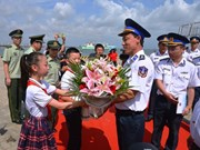 Vietnam Coast Guard ship continues exchange activities in Hainan