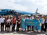Vietnam Airlines celebrates 10,000th int'l flight to Da Nang