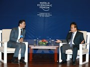 PM receives WEF, AIIB, Cisco leaders